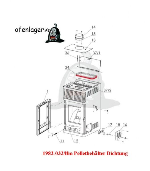1982-032 / lfm Pelletbehälter Dichtung