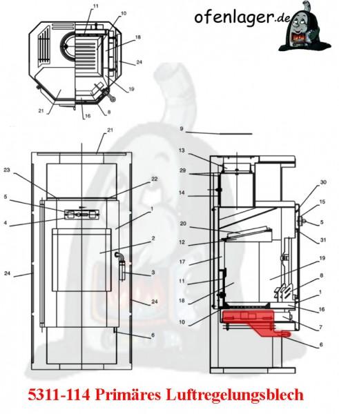 5311-114 Primär Luftregelungsblech