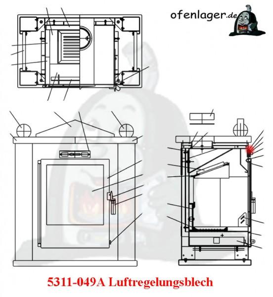 5311-049A Luftreglungsblech