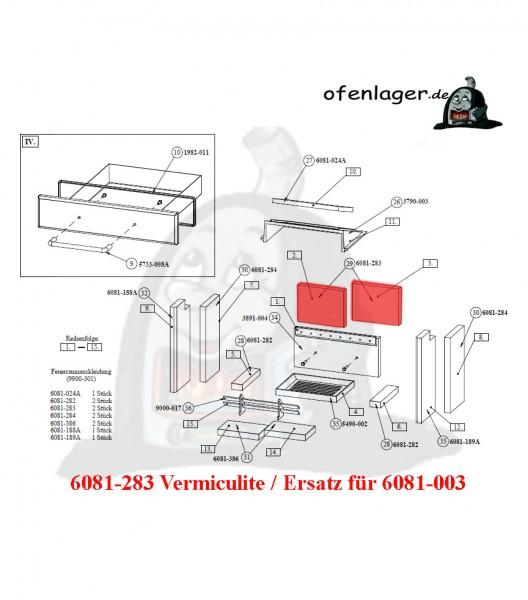6081-283 Vermiculite- Ersatz für 6081-003 / 1 Stück