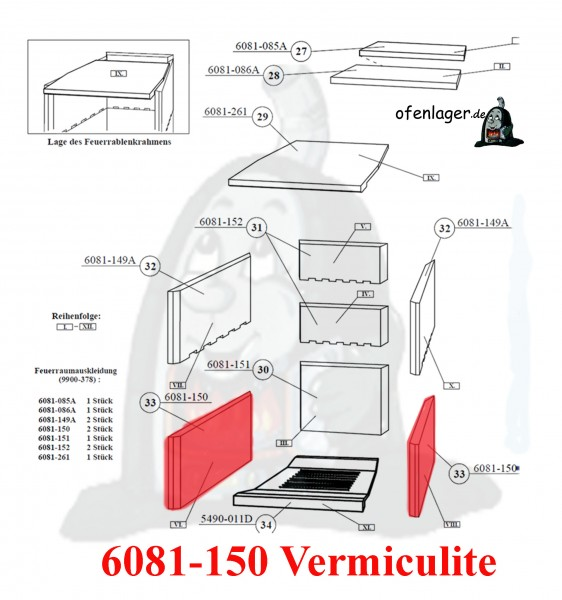 6081-150 Vermiculite / 1 Stück