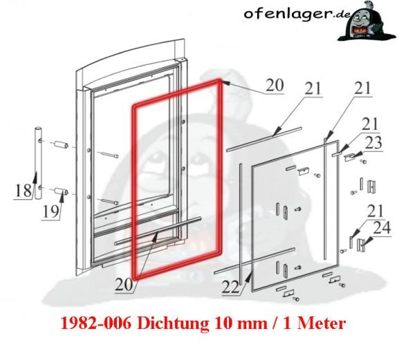 1982-006 Dichtung 10 mm / 1 Meter