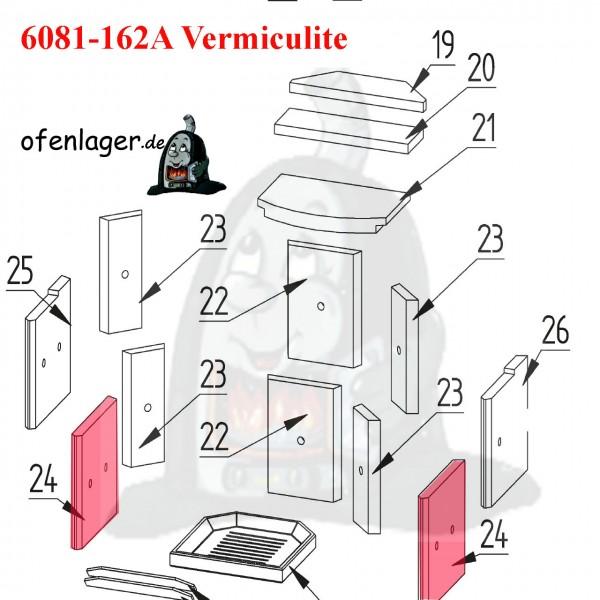 6081-162A Vermiculite Brennraum / 1 Stück
