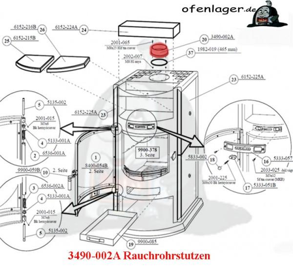 3490-002A Rauchrohrstutzen