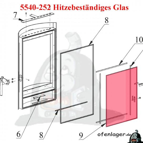 5540-252 Hitzebeständiges Glas