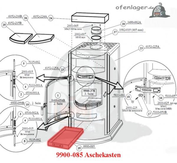 9900-085 Aschekasten