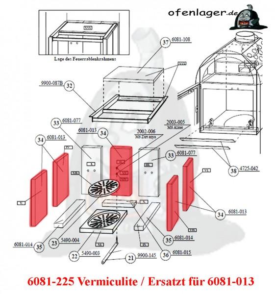 6081-225 Vermiculite- Ersatz für 6081-013 / 1 Stück