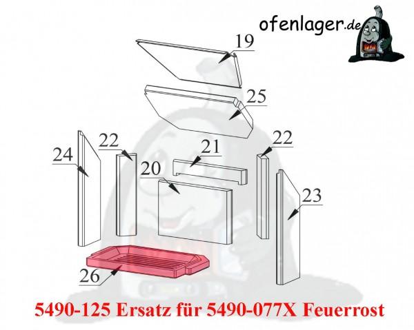 5490-125 Ersatz für 5490-077X Feuerrost