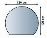 Bodenplatte 3/4 Kreis 0,6x120x105 cm