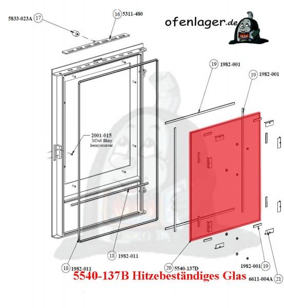 5540-137B Hitzebeständiges Glas