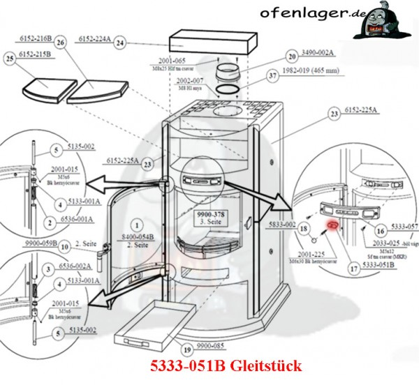 5333-051B Gleitstück