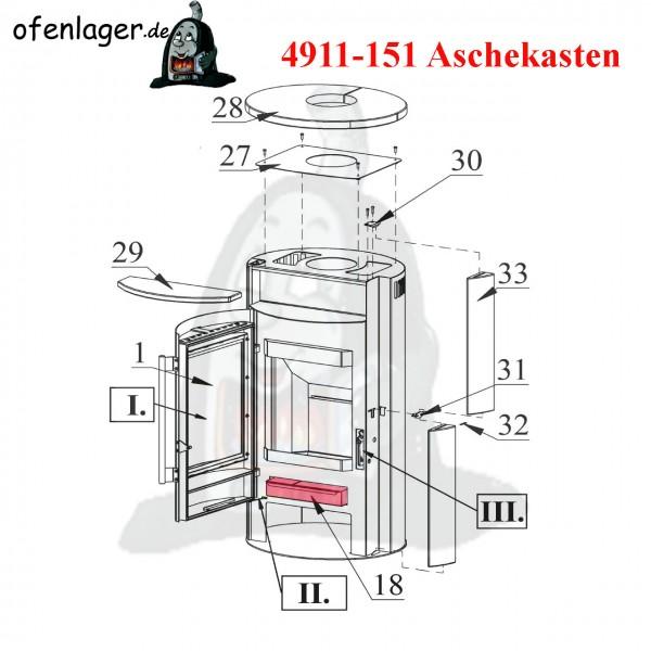 4911-151 Aschekasten
