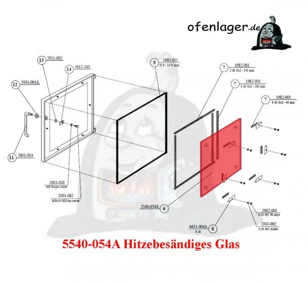 5540-054A Hitzebeständiges Glas
