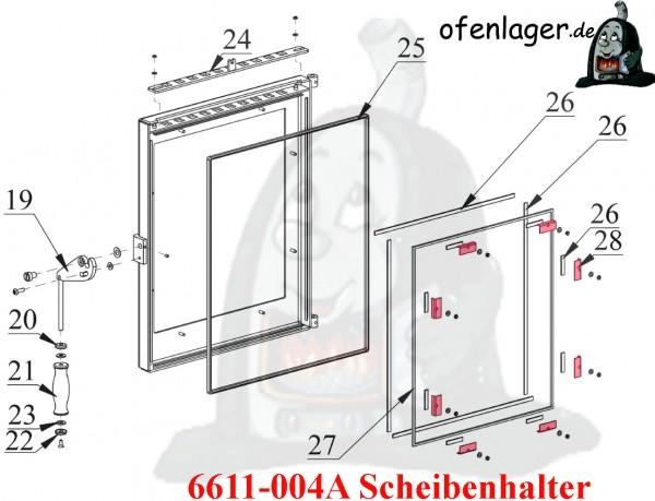 6611-004A Scheibenhalter 4 Stück