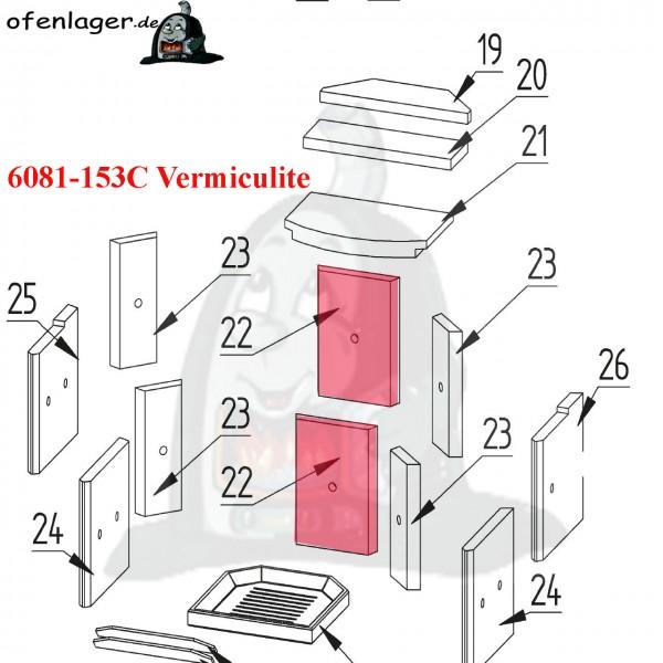 6081-153C Vermiculite Brennraum / 1 Stück