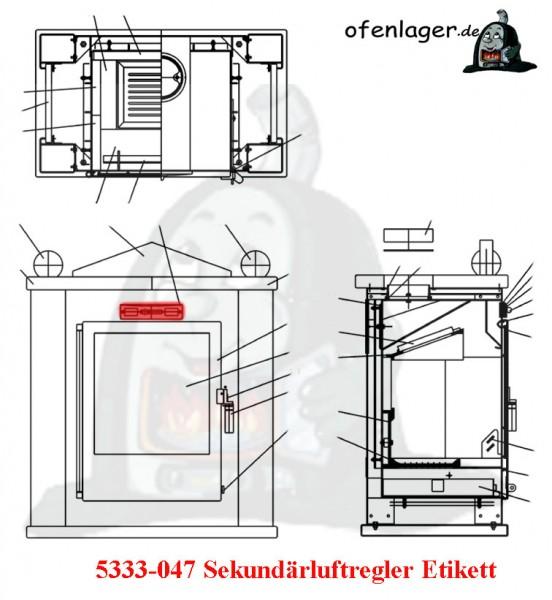 5333-047 Sekundärluftregler Etikett