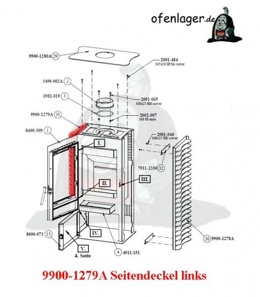 9900-1279A Seitendeckel links