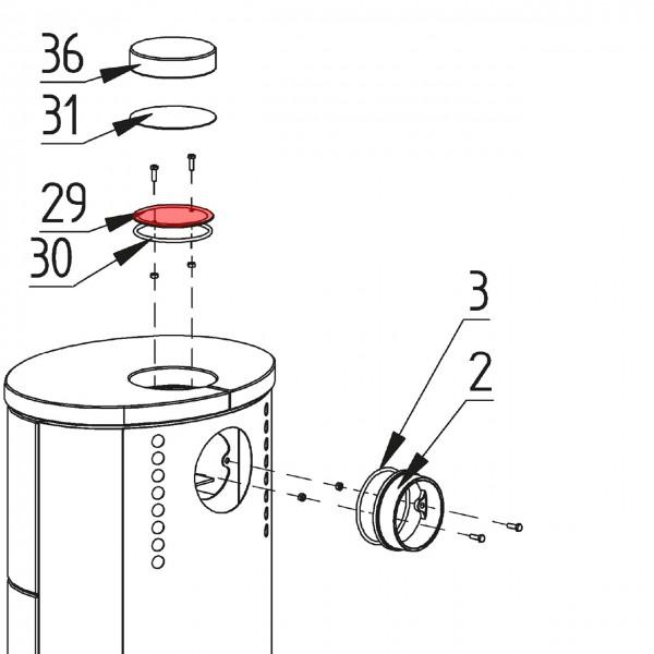 4111-001 Deckel für Rauchrohranschluß