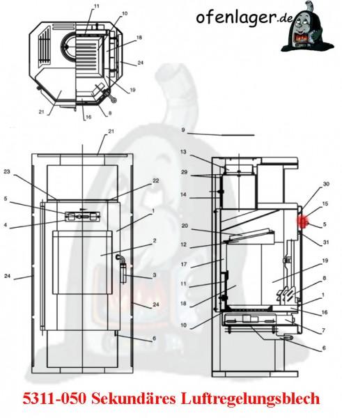 5311-050 Sekundär Luftreglungsblech